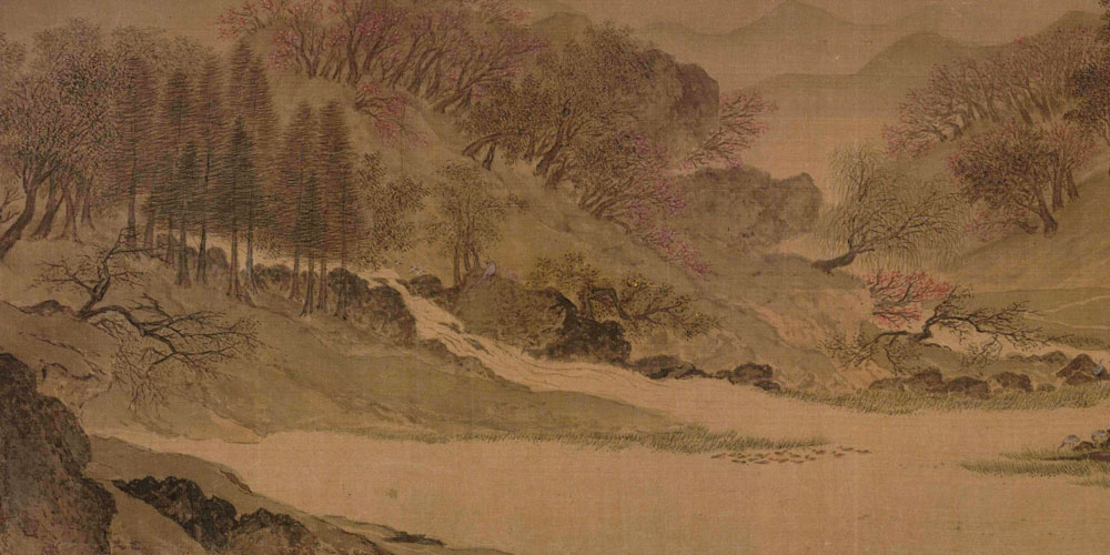 雪消门外千山绿,花发江边二月晴。